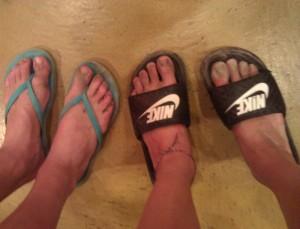Dirty feet mean fun.